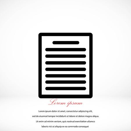writing pad: paper icon vector, flat design best vector icon