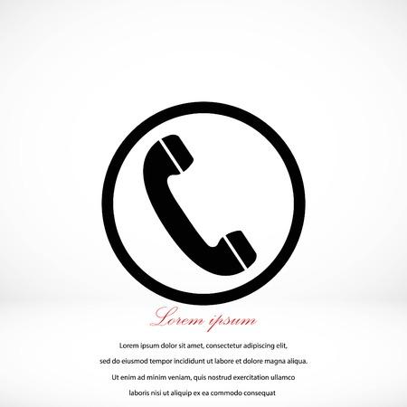 Telephone  vector icon, flat design best vector icon