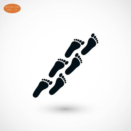 to commit: foot icon vector, flat design best vector icon Illustration