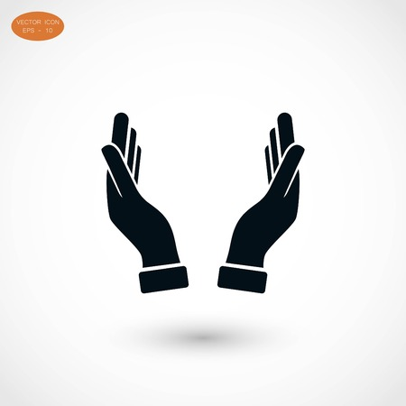 hands icon vector, flat design best vector icon