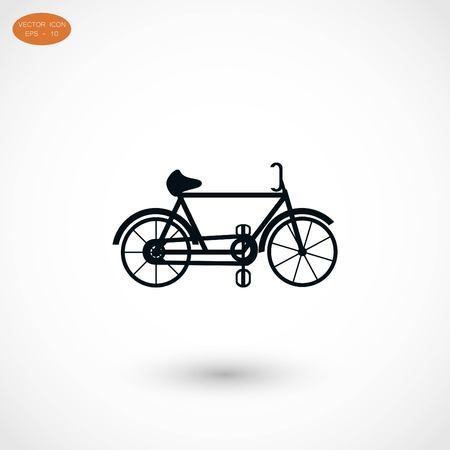 spoke: bicycle icon, flat design best vector icon Illustration