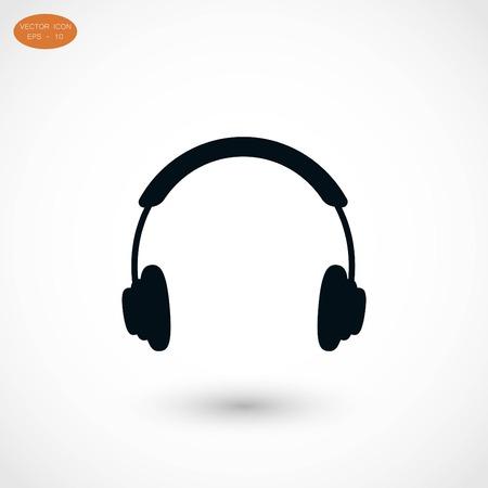 headphone icon, flat design best vector icon