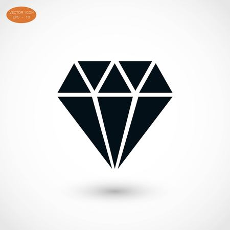 spoil: Diamond vector icon, flat design best vector icon Illustration