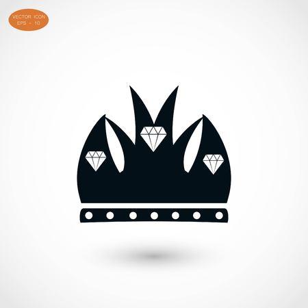 Crown vector icon, flat design best vector icon