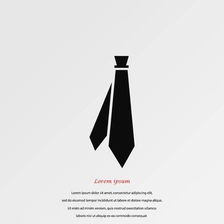taylor: Tie icon vector, flat design best vector icon