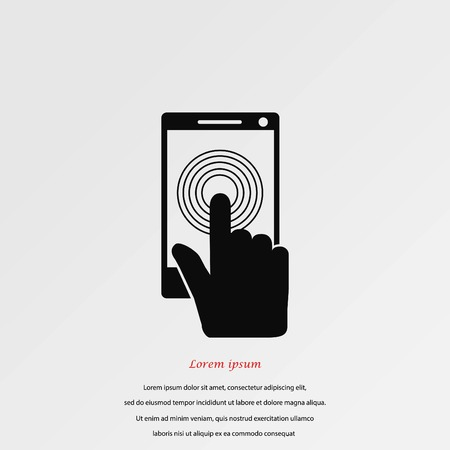 Smartphone icon vector, flat design best vector icon.