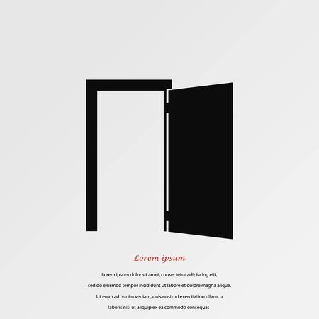 door knob: Door icon vector, flat design best vector icon. Illustration
