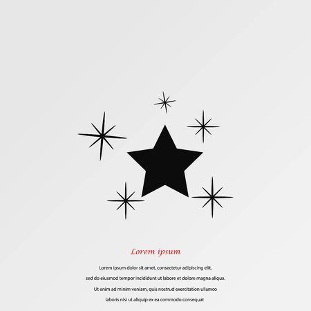 Star vector icon, flat design best vector icon