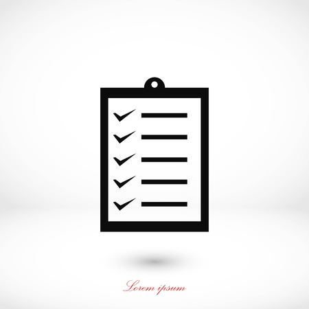 writing pad: Black vector icon, flat design best vector icon