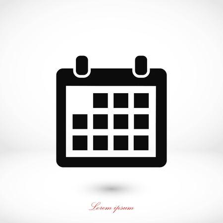 calendar icon: Calendar icon vector, flat design best vector icon