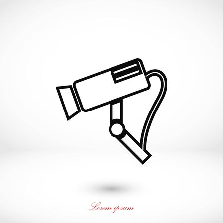Surveillance Camera vector icon, flat design best vector icon