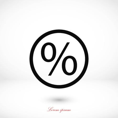 Percent icon vector, flat design best vector icon Illustration