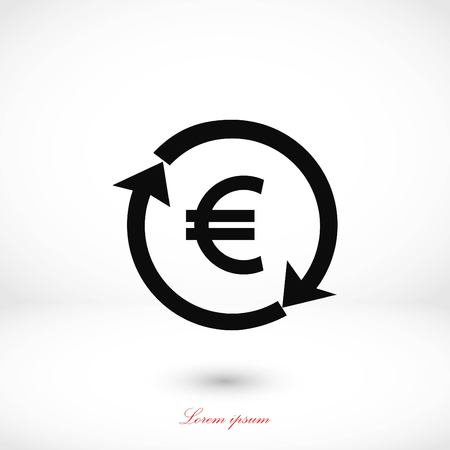 money convert icon, flat design best vector icon