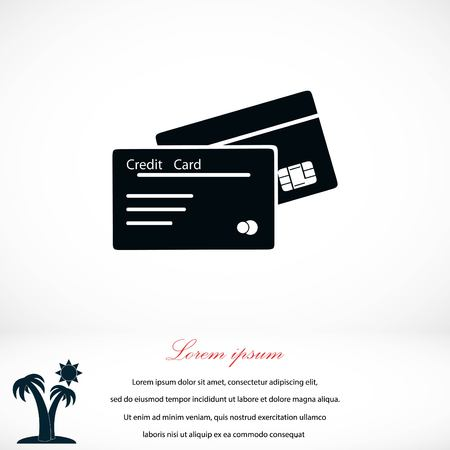 paying: credit card icon, flat design best vector icon Illustration