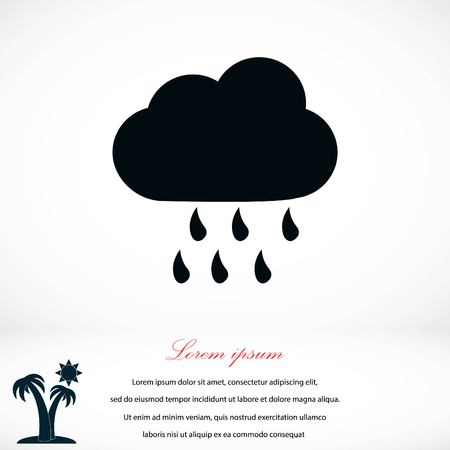 weekly: weather icon vector, flat design best vector icon Illustration