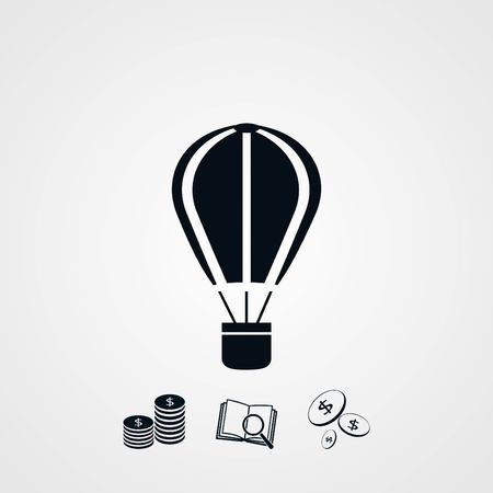 parachute icon vector, flat design best vector icon