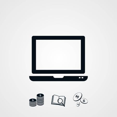 flat screen tv: Vector Monitor icon, flat design best vector icon