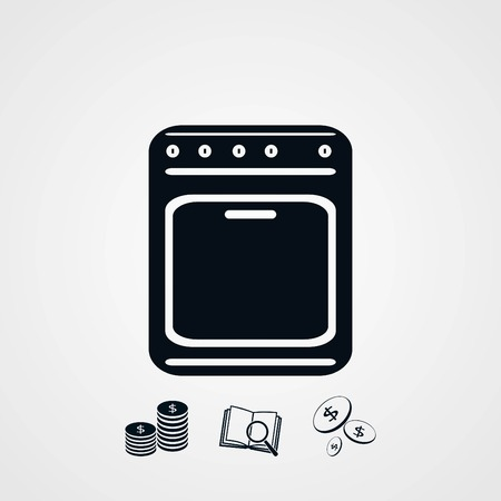 plate: stove icon vector, flat design best vector icon Illustration
