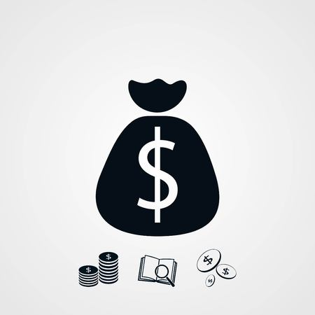 Money bag sign icon, flat design best vector icon