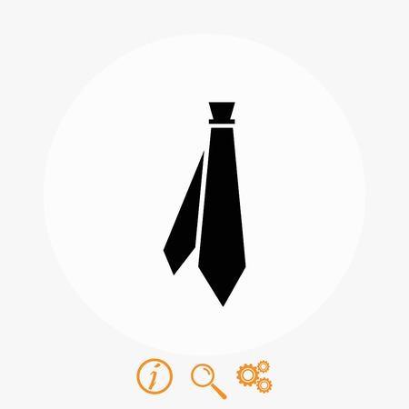 Tie icon vector, flat design best vector icon