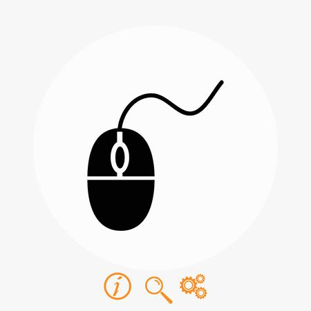 controlling: Computer mouse icon, flat design best vector icon Illustration
