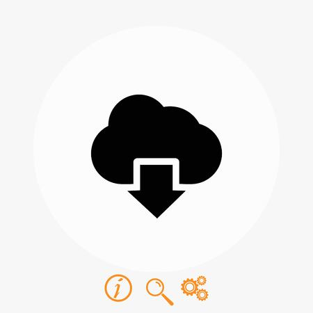 global communication: cloud sign icon, flat design best vector icon