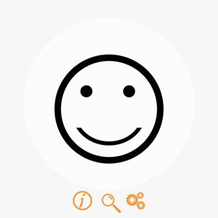 encode: smiles icon vector, flat design best vector icon Illustration