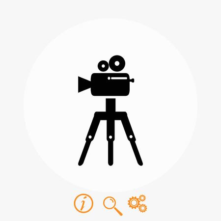 Video camera icon, flat design best vector icon Illustration