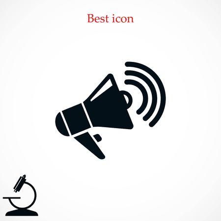 Lautsprecherikonenvektor, beste Vektorikone des flachen Designs Vektorgrafik