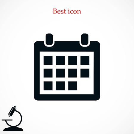 event planning: Calendar icon vector, flat design best vector icon