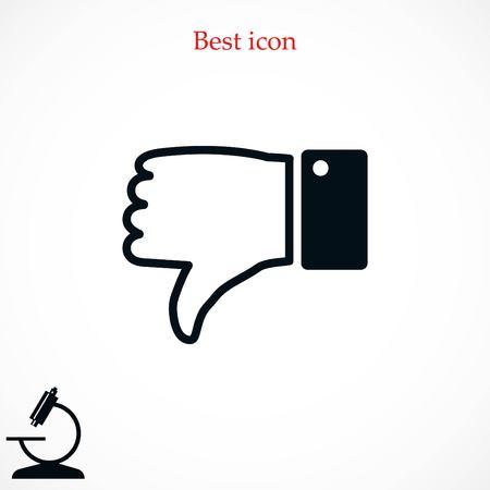 Hand not good icon Illustration
