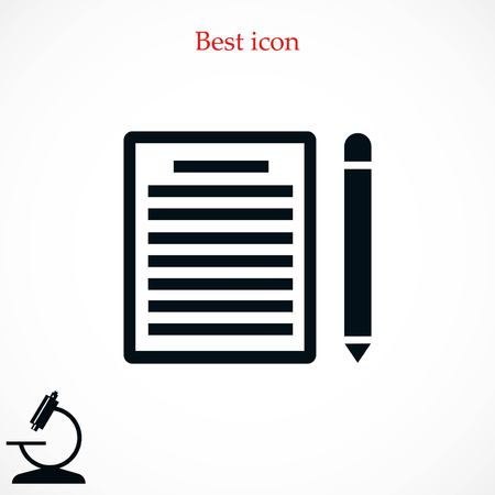 note paper: paper icon vector, flat design best vector icon