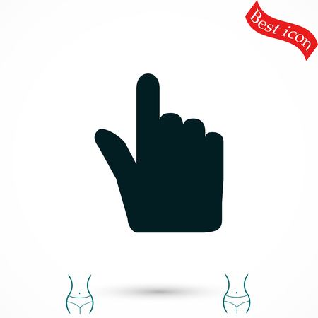 Hand cursor vector icon, flat design best vector icon