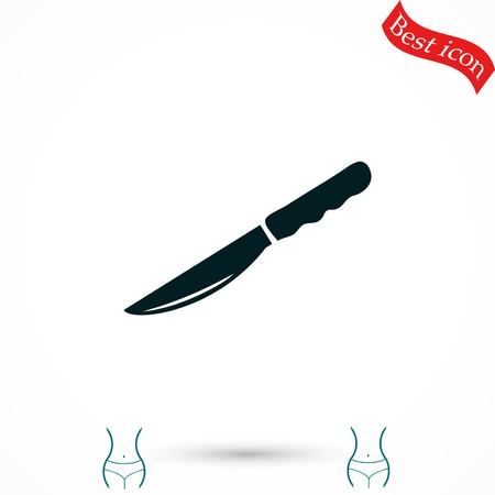 Knife icon vector, flat design best vector icon Illustration
