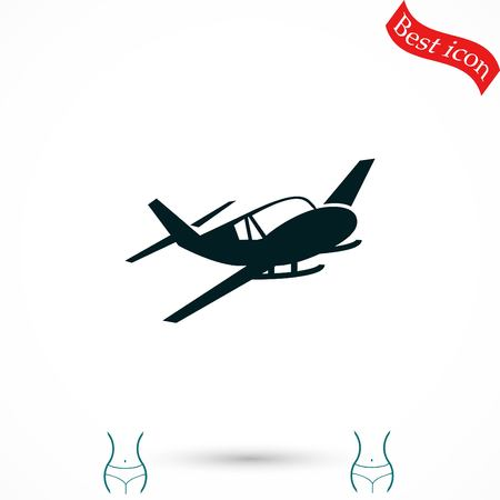 planos electricos: Airplane icon, flat design best vector icon