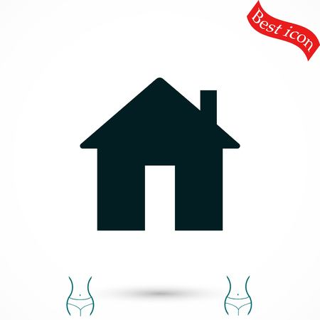 real estate house: Home icon vector, flat design best vector icon