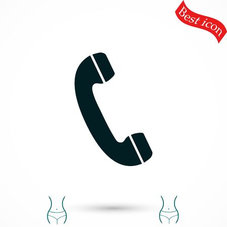receiver: Telephone receiver vector icon, flat design best vector icon