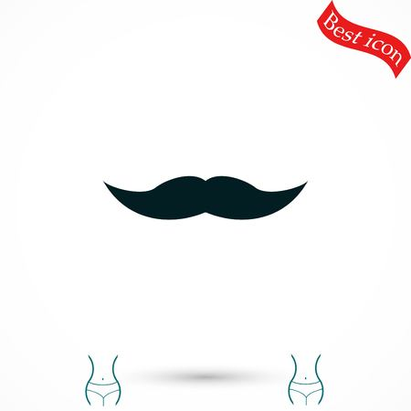 burly: whiskers icon vector, flat design best vector icon