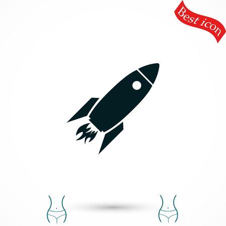 Rocket icon, vector, flat design best vector icon