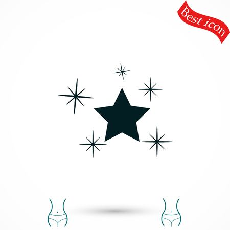 hollywood star: Star vector icon, flat design best vector icon