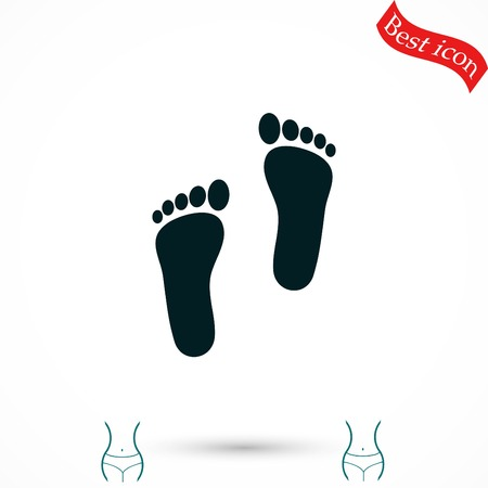 foot vector icon, flat design best vector icon