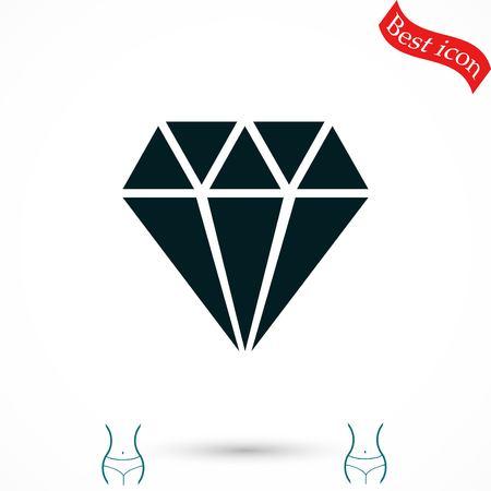 Diamond vector icon, flat design best vector icon Vectores