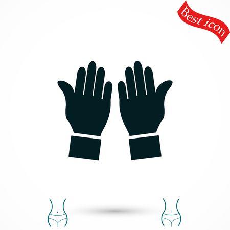 popular: hand vector icon, flat design best vector icon