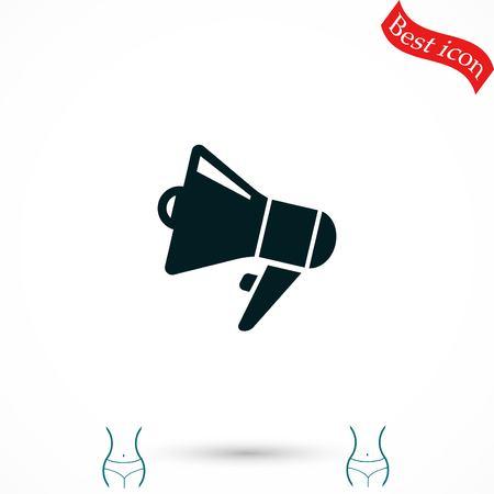 loudspeaker icon vector, flat design best vector icon Illustration