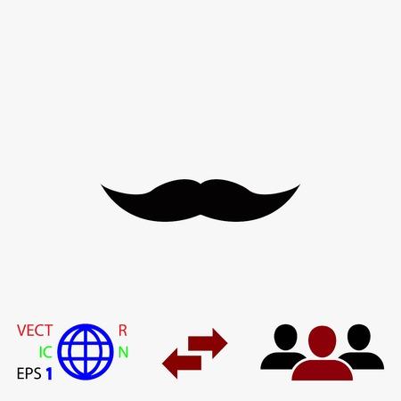 moustaches icône vecteur, icône de vecteur meilleur design plat Vecteurs