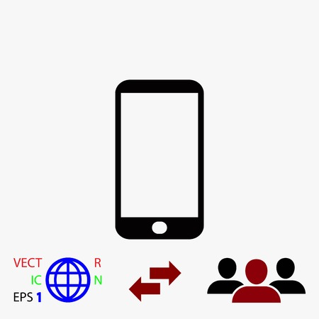 touchpad: smart phone icon, flat design best vector icon