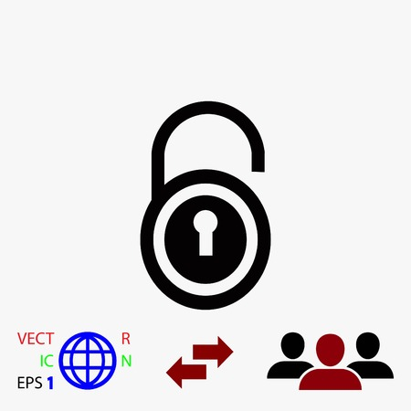 key hole: lock icon vector, flat design best vector icon