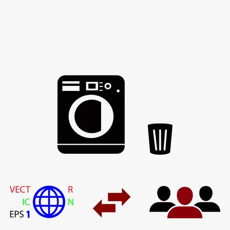 latch: Laundry icons vector, flat design best vector icon Illustration
