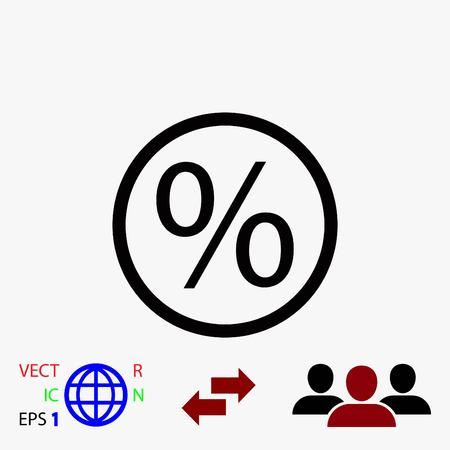 percent sign: percent icon vector, flat design best vector icon