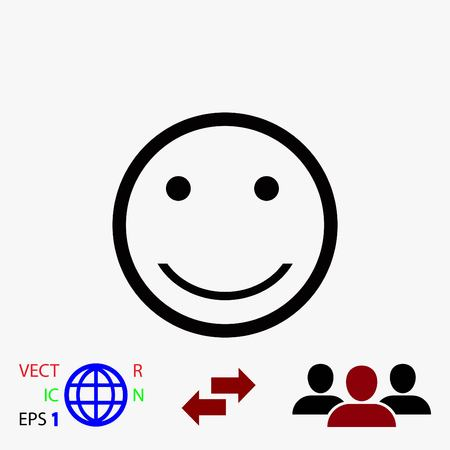 smiles icon vector, flat design best vector icon Illustration